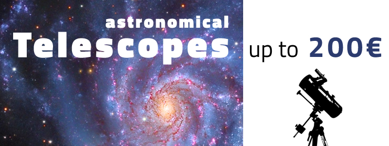 Astronomical telescopes between 100 and 200 Euros