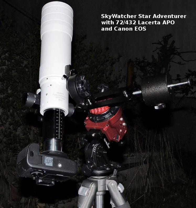 Star Adventurer kompakt asztrofotós mechnika