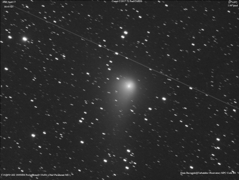A C/2017 T2 (PANSTARRS) üstökös Denis Buczynski április 17-i fotóján