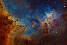 IC1805 - Hubble paletta