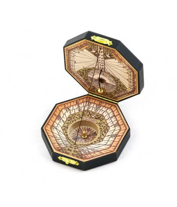 Pocket Sundial replica (octagonal-shaped, fully functional) 7cm
