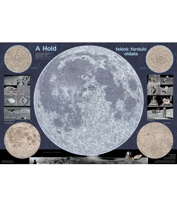Moon wall map